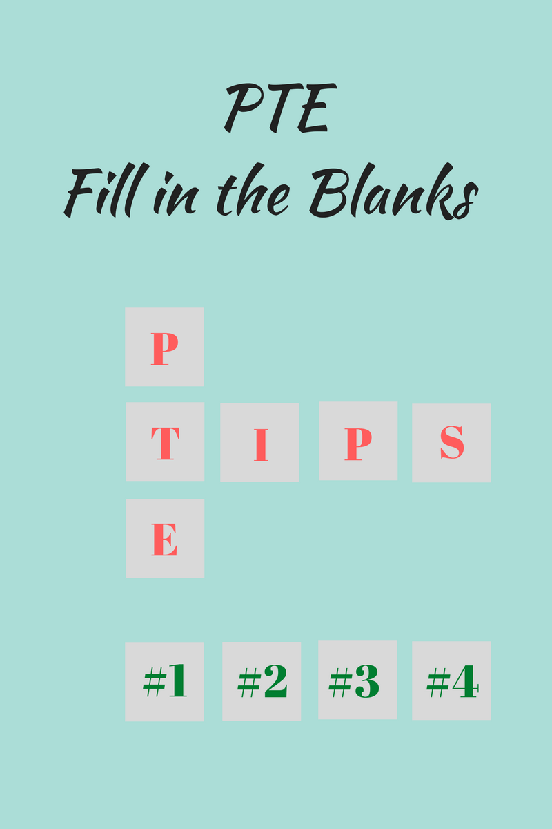 Fill in the Blanks: PTE Reading Tips & Strategies - E2Language Blog